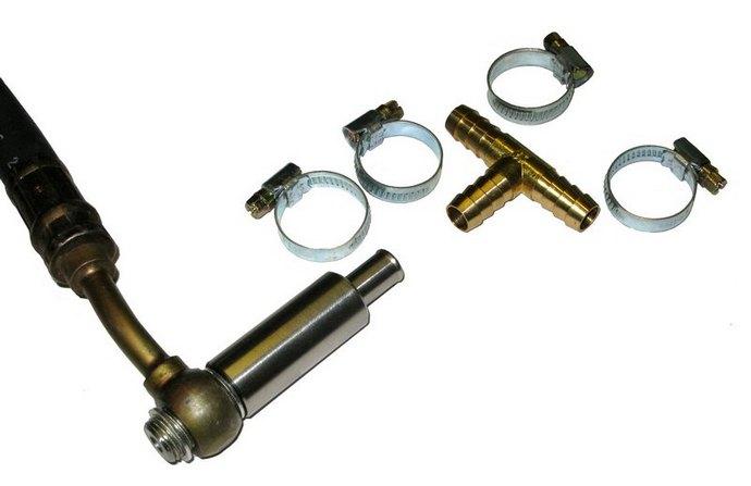При установке внешнего предохранительного клапана необходимо отключать (блокировать) штатный предохранительный клапан...
